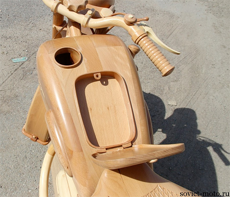 Motorcycle Made out of Wood