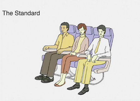 Airplane Sleep Position