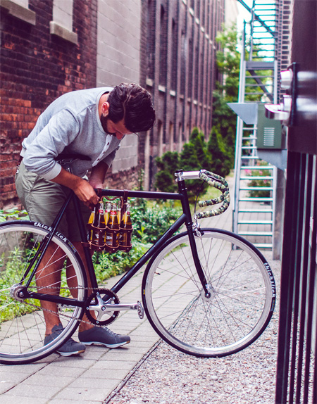 Bicycle Beer Holder