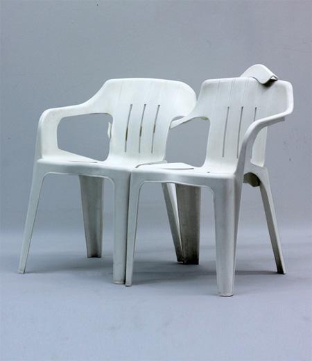 Plastic Chair Sculpture