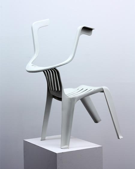 Chair Sculptures by Bert Loeschner
