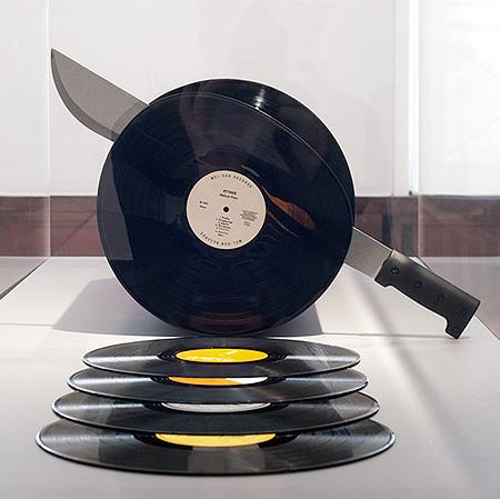 Cutting Records Sculpture