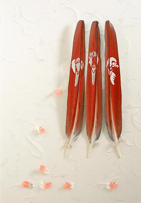Beautiful Feather Sculptures