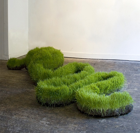 Grass Sculptures by Mathilde Roussels