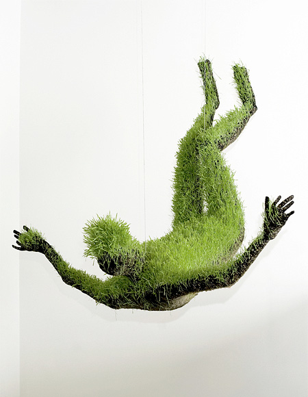 Grass Sculpture by Mathilde Roussels