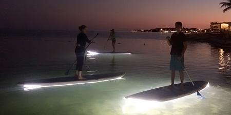 Illuminated Paddleboard