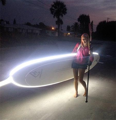 Illuminated Surfboard