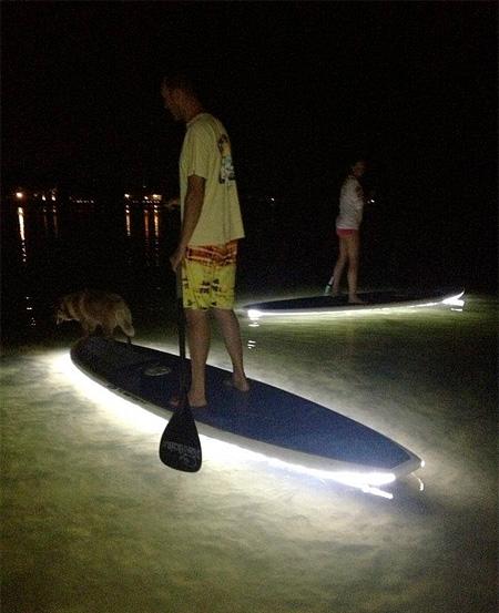 Illuminated Paddleboards
