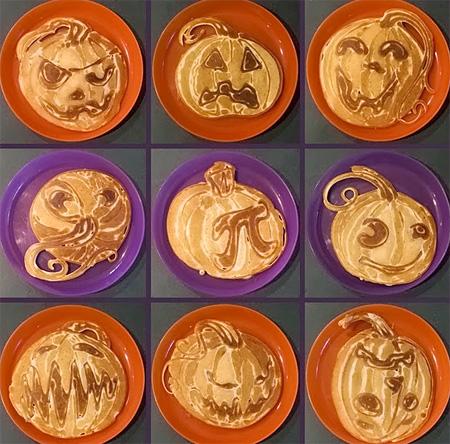 Halloween Pumpkin Pancakes