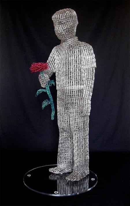 Paperclip Sculpture by Pietro DAngelo