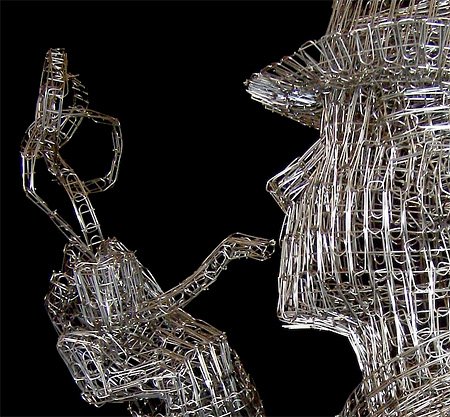 Sculpture Made of Paperclips