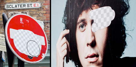 Photoshop Eraser Street Art