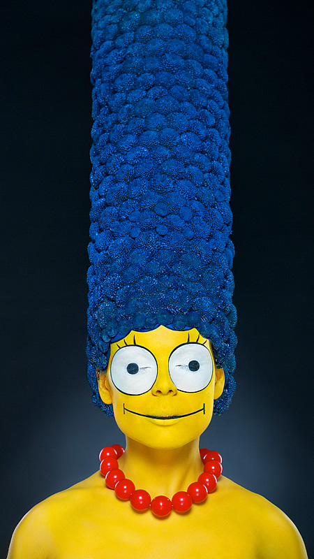 Marge Simpson Makeup