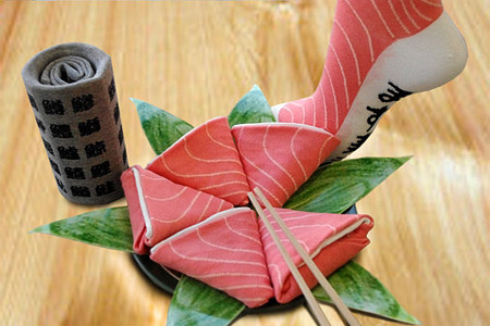 Sushi Socks from Japan