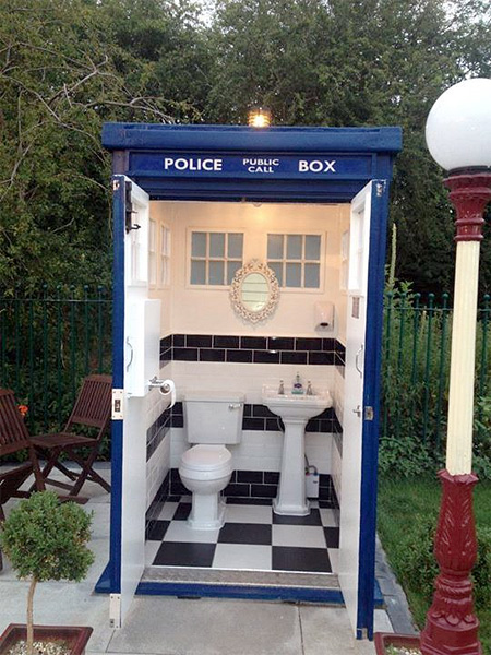 TARDIS Outdoor Bathroom