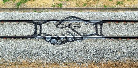 Train Tracks Graffiti