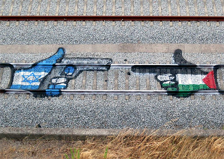 Train Tracks Street Art