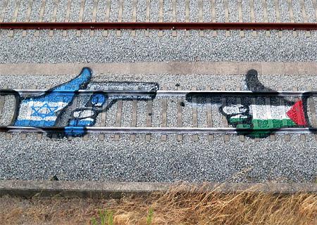 Train Tracks Street Art