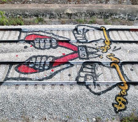Railroad Tracks Graffiti