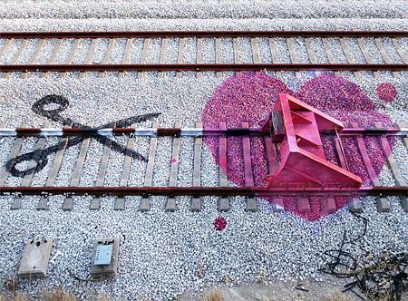 Railroad Tracks Street Art
