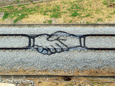 Railroad Tracks Art