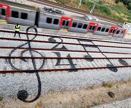 Train Track Graffiti