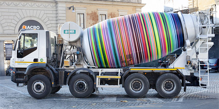 Cement Truck Graffiti