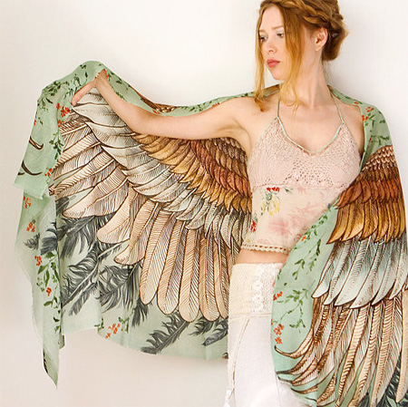 Bird Scarf with Wings