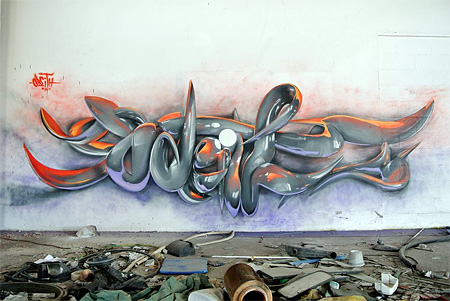 3d graffiti by odeith for 3d mural painting tutorial