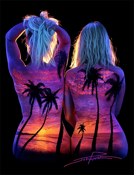 Black Light Bodyscapes