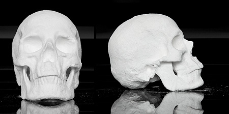 Skull Made of Cocaine