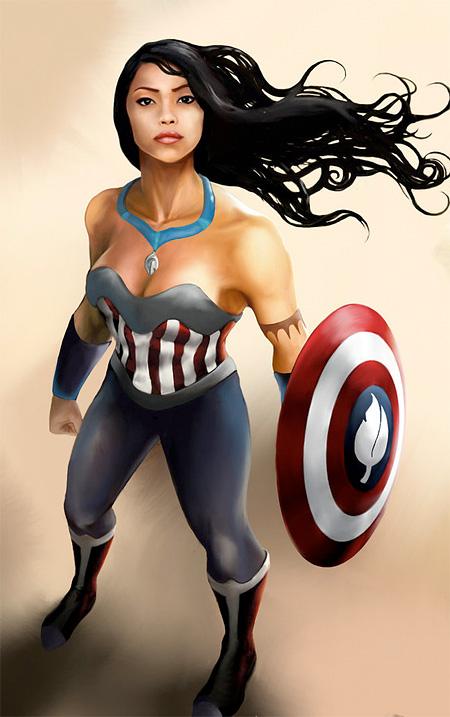 Pocahontas Captain America