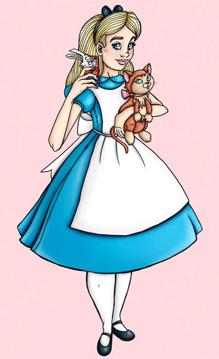 Alice in Wonderland Selfie