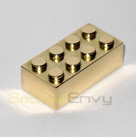 LEGO Bricks Made of Gold