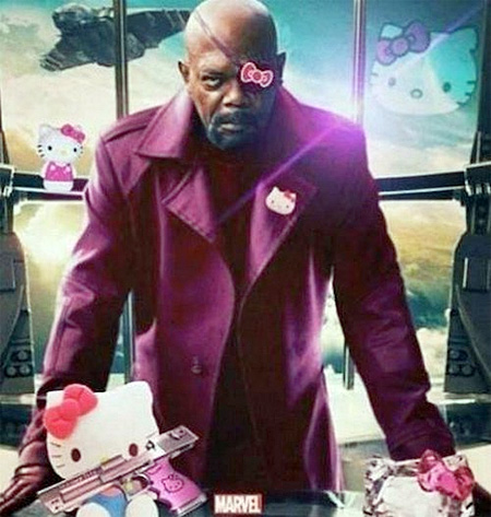 Hello Kitty Nick Fury