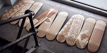 Laser Engraved Skateboards