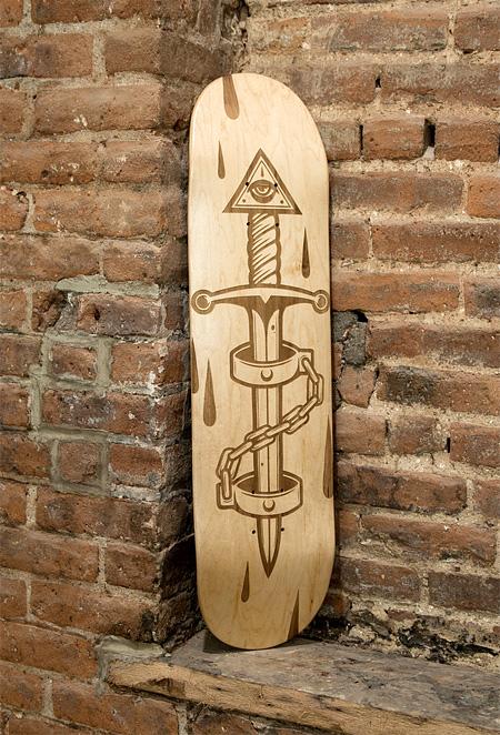 Laser Engraved Skateboard