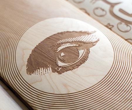 Laser Engraved Skateboard Deck