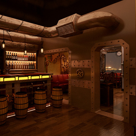 Steampunk Themed Restaurant