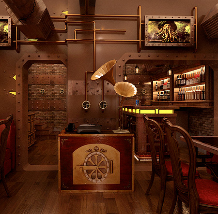Steampunk Inspired Restaurant