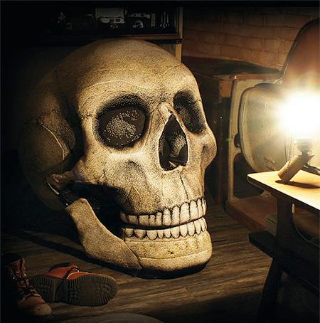 Skull Halloween Chair
