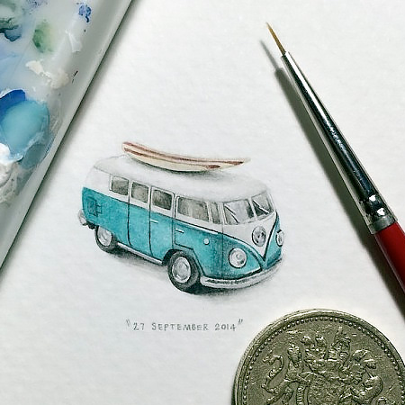 Micro Paintings by Lorraine Loots