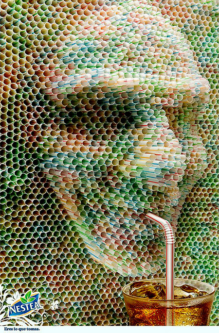 Nestea Straw Face