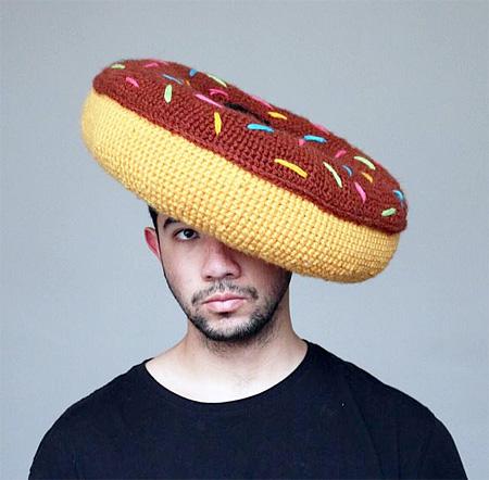 Crocheted Food Hat