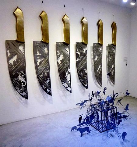 Knife Carvings by Li Hongbo