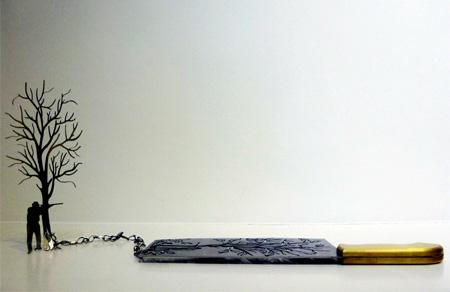 Li Hongbo Knife Sculptures