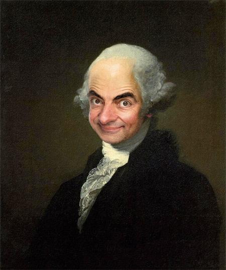 Mr Bean Painting