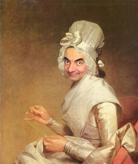 Rowan Atkinson Painting