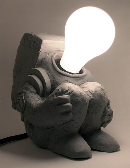 Cosmonaut Lamp