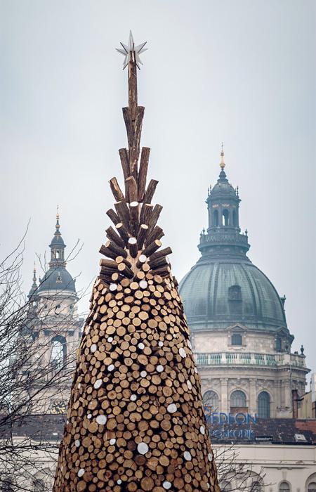 Firewood Christmas Tree